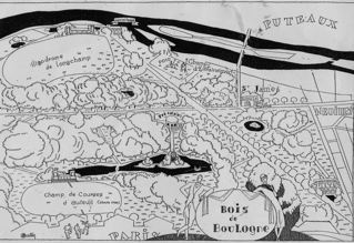 Map of the Bois de Boulogne